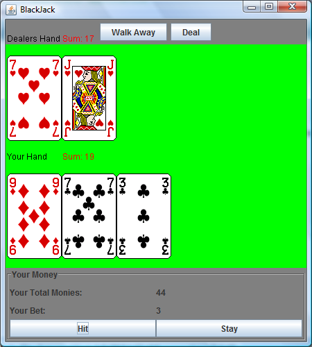blackjack java game